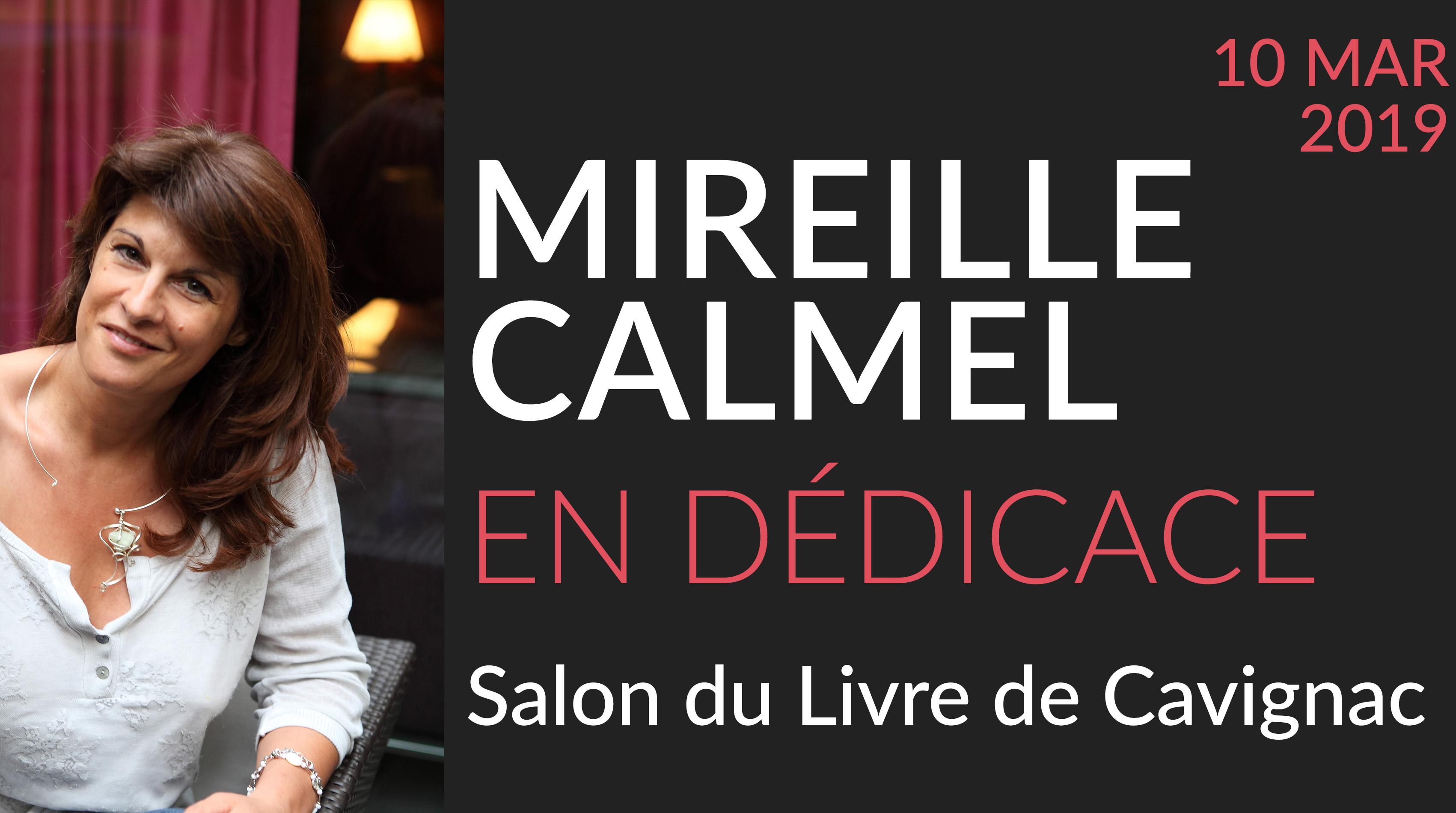 Mireille Calmel au Salon du Livre de Cavignac