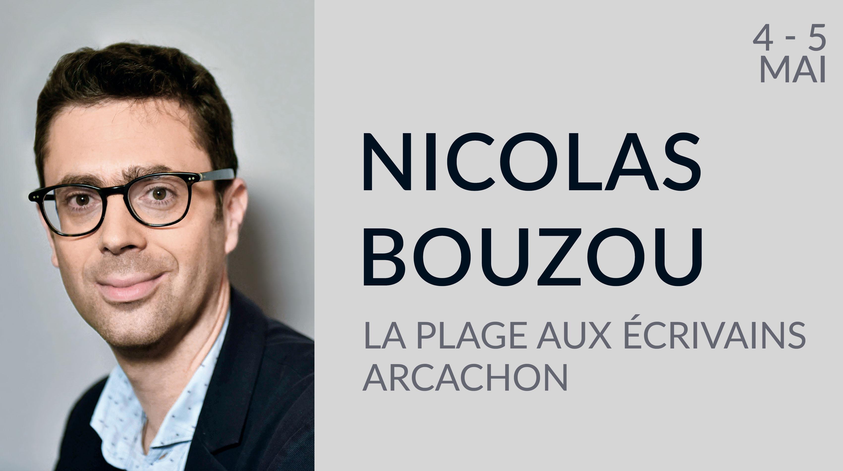 NICOLAS BOUZOU À LA PLAGE AUX ÉCRIVAINS D'ARCACHON