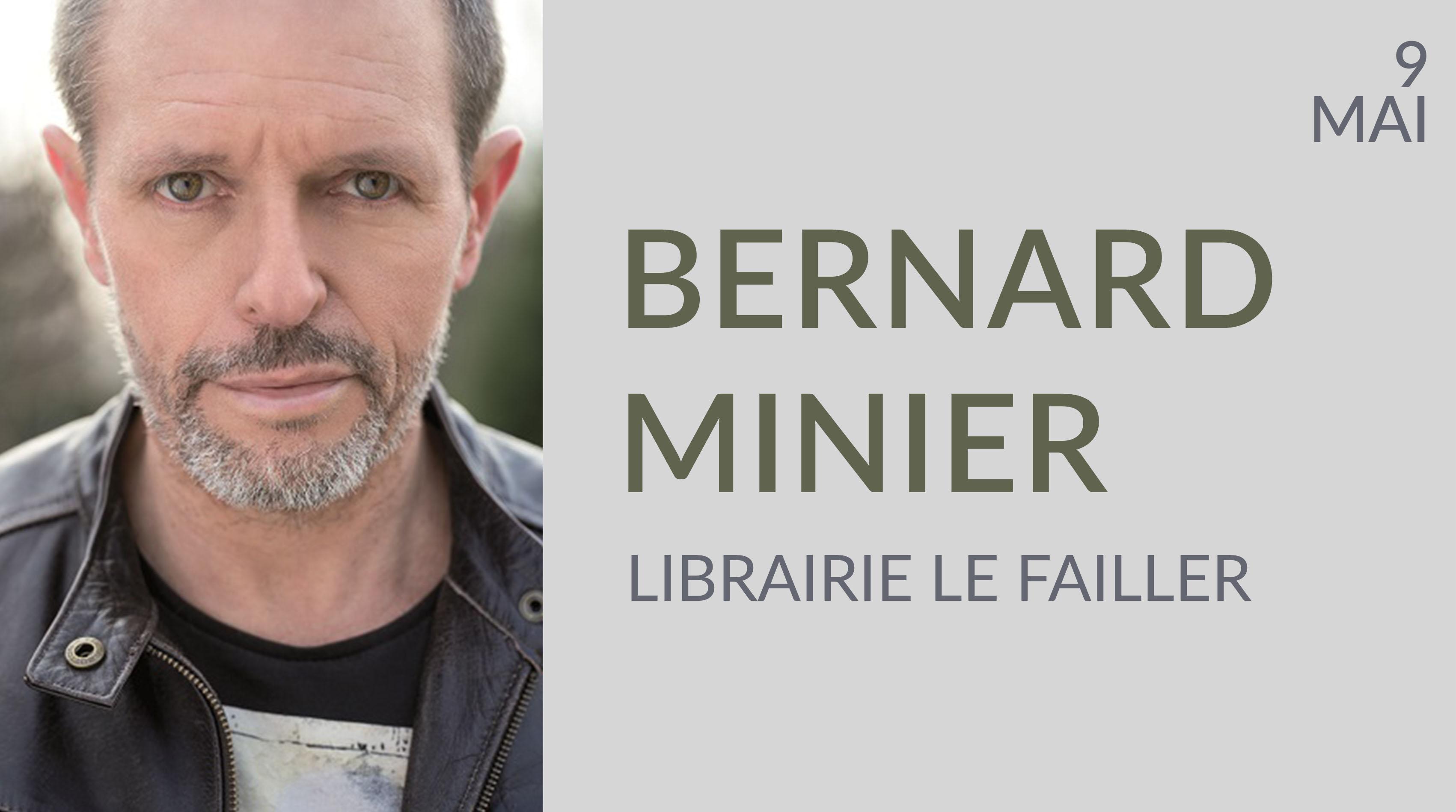 BERNARD MINIER À LA LIBRAIRIE LE FAILLER -  RENNES