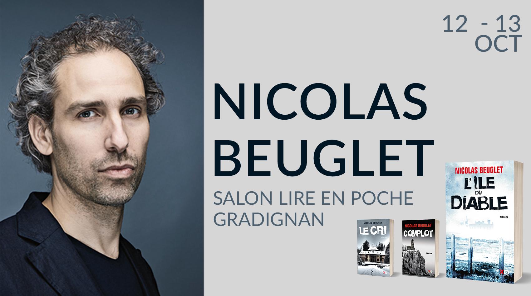 NICOLAS BEUGLET AU SALON LIRE EN POCHE DE GRADIGNAN