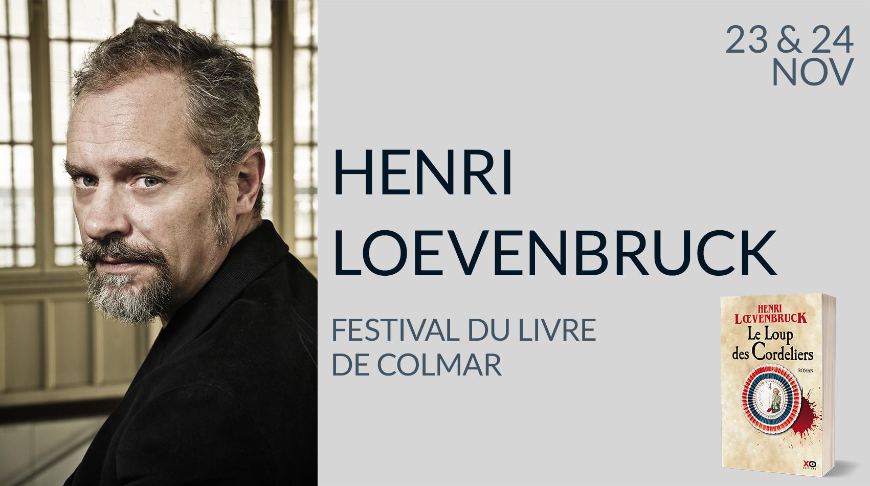 HENRI LŒVENBRUCK AU FESTIVAL DU LIVRE DE COLMAR