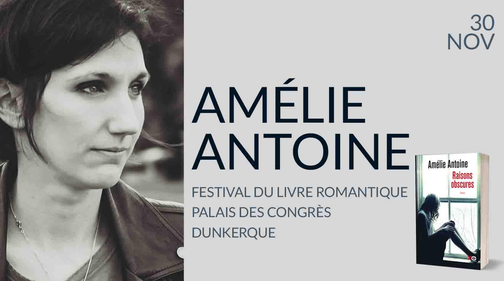 AMÉLIE ANTOINE AU FESTIVAL DU LIVRE ROMANTIQUE DE DUNKERQUE