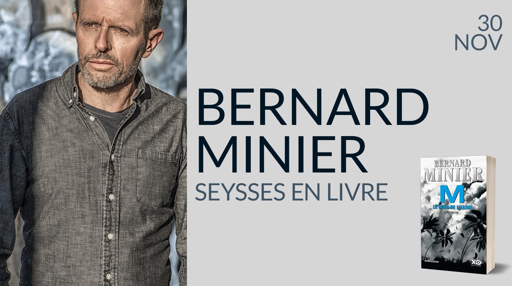 BERNARD MINIER À SEYSSES EN LIVRE
