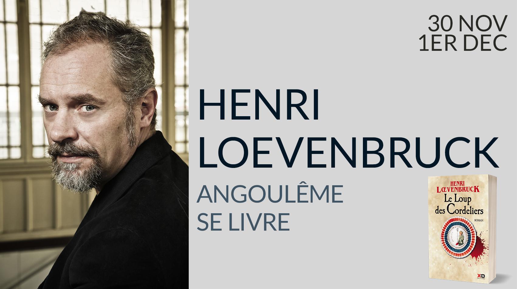 HENRI LOEVENBRUCK AU FESTIVAL ANGOULÊME SE LIVRE