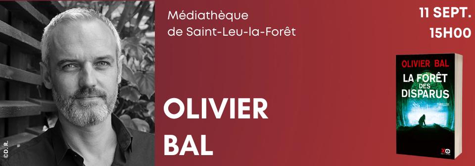 Olivier Bal en dédicace à Saint-Leu-la-Forêt